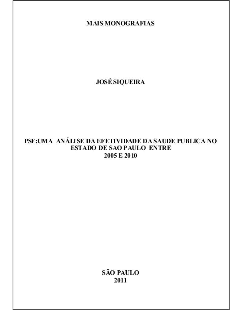 Modelo de Capa para Monografia
